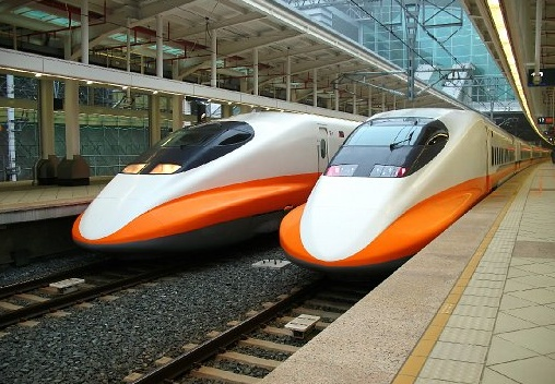 Modern High Speed Train wash